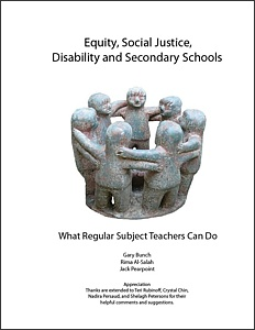 Equity, Social Justice, Disability and Secondary Schools book cover