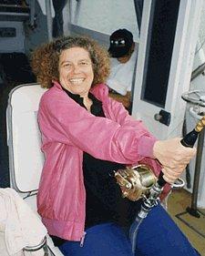 photo of Marsha Forest fishing