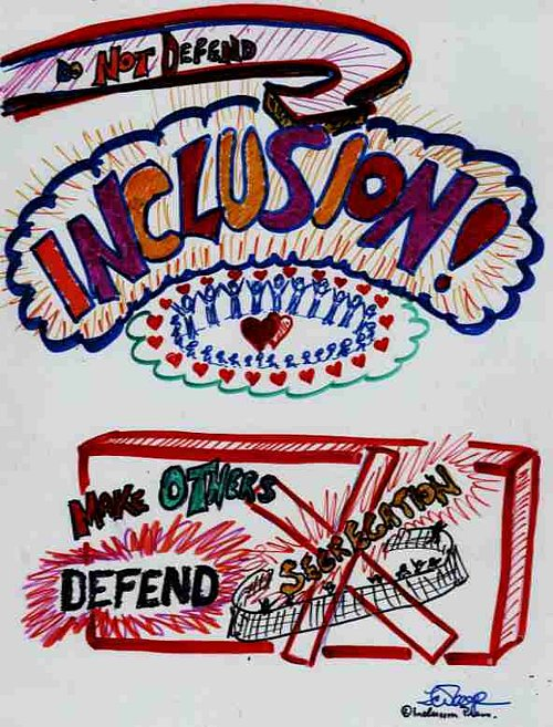 Do Not Defend Inclusion - graphic image