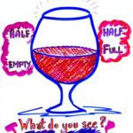 Half Empty: Half Full. What Do You See? - graphic image