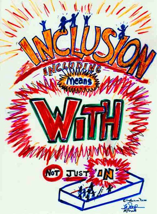 Inclusion Means WITH, Not Just IN - graphic image
