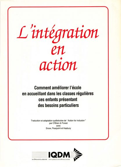 L'integration en action.cover