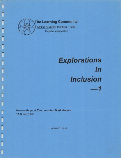 The Learning Community.McGill SI 1993.cover