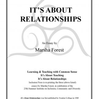 Marsha Forest.It's About Relationships.cover