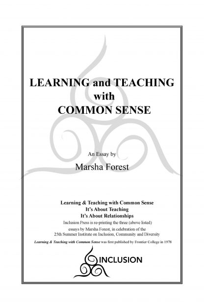 Marsha Forest.Learning&Teaching.cover