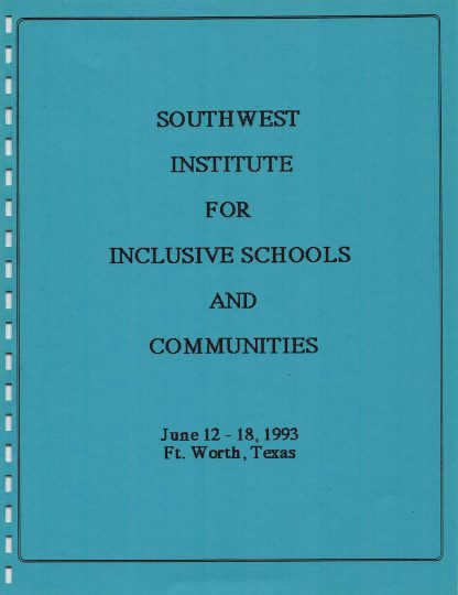 Southwest Inst for Inclusive Schools.cover